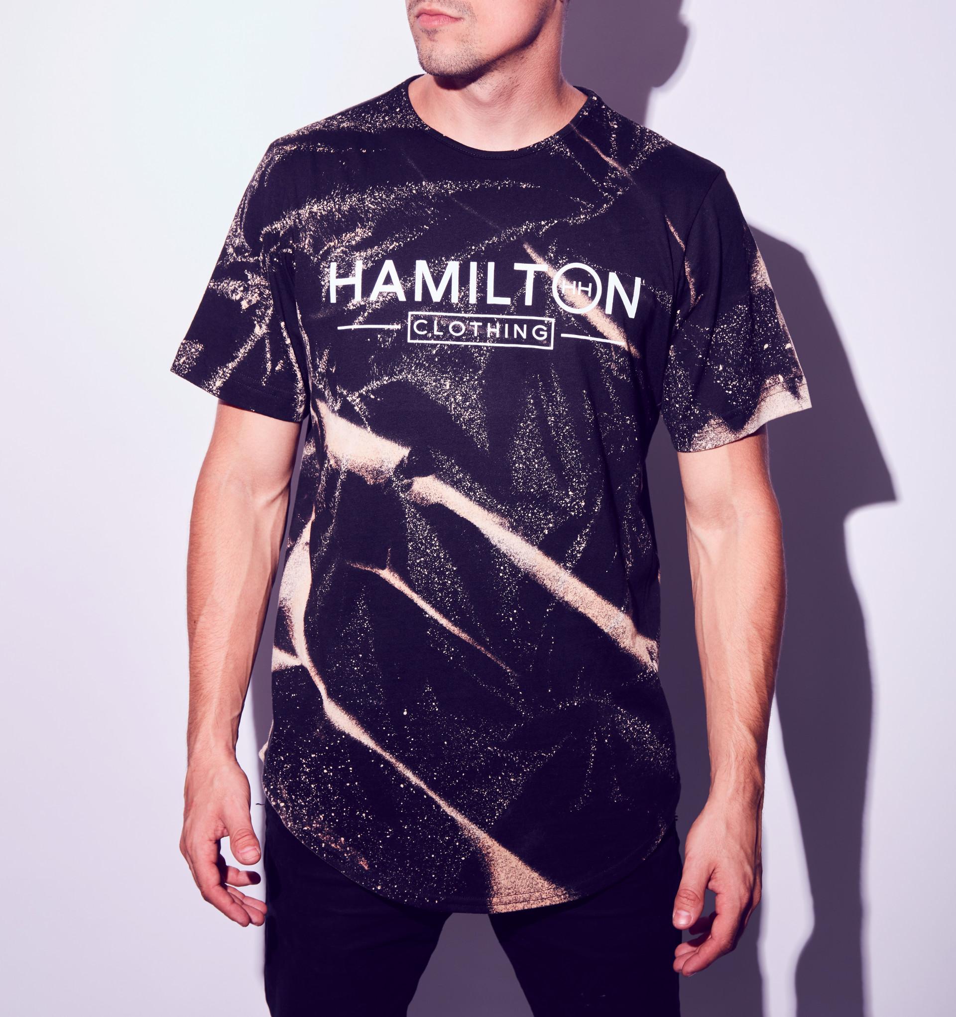 hollywood hamilton mens tshirt bleach v2 collection tampa streetwear boutique
