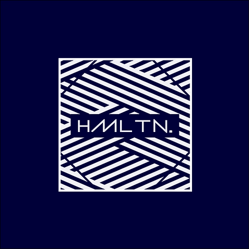 Hollywood Hamilton Zig-Zag Bandana Navy