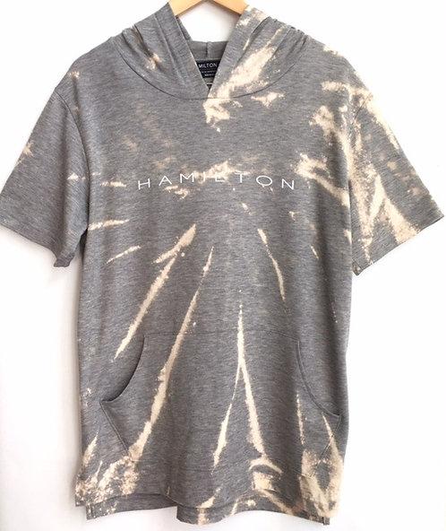 spiral tie dye short sleeve hoodie