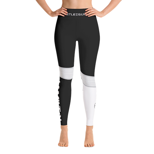 Hollywood hamilton women's hyper leggings black front view tampa athleisure running tights tampa leggings black