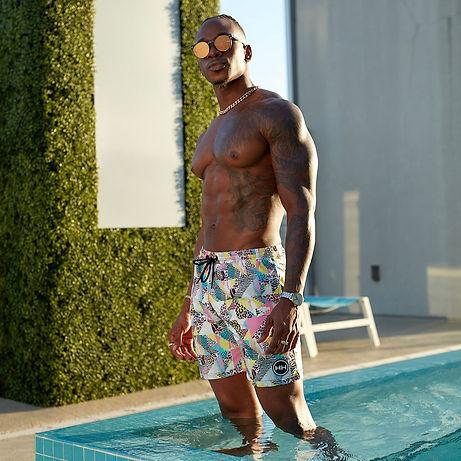Hollywood Hamilton Season 2 Swim 90s Splash Swim Trunks
