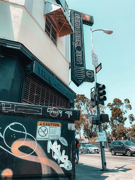 Hollywood Hamilton the hundreds sticker bomb on fairfax ave los angeles