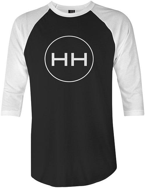 HH Circle Logo 3/4 Sleeve Raglan (B&W)