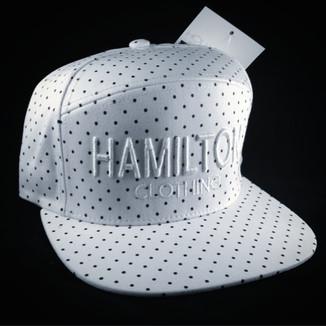 white polka dot strapback