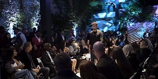 Hollywood Hamilton fashion show shot