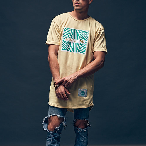 front view of Zig Zag Pastel Wave tee by hollywood hamilton tampa streetwear