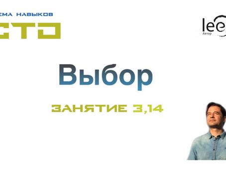 """Видео СТО """"Выбор"""" Занятие № 3,14"""
