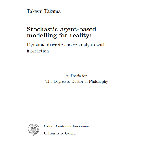 Stochastic agent-based modelling for reality