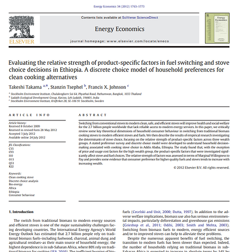 Evaluating the relative strength of product-specific factors in fuel switching