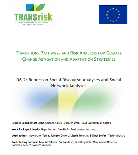 TRANSrisk Innovation Policies and Transition Pathways