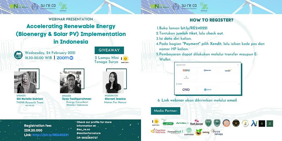 Accelerating Renewable Energy (Bioenergy & Solar PV) Implementation in Indonesia