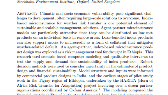Robust decision making for sustainable index-based microinsurance