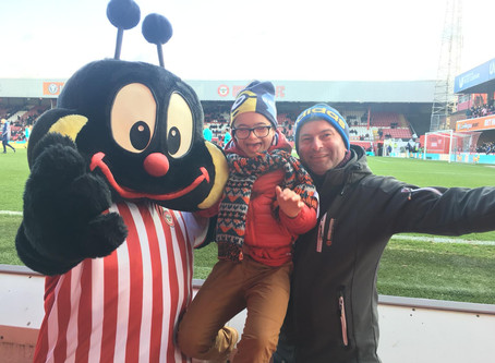 Penguins attend Brentford v Blackburn Rovers Game