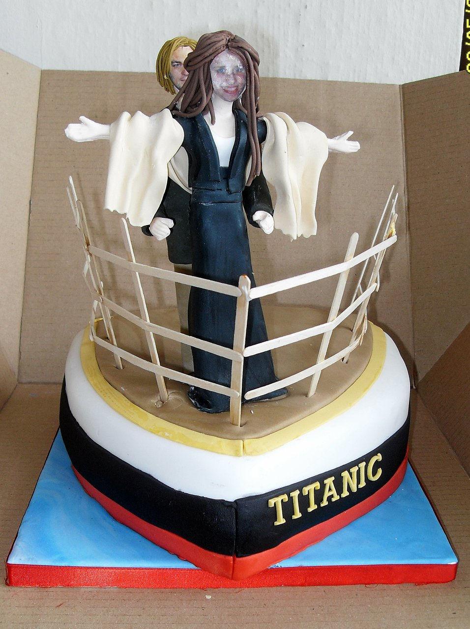 Titanic Edible Birthday Cake Topper