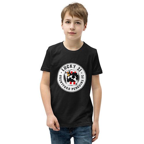 Penguin's Lucky 21 (White Logo) - Youth Short Sleeve T-Shirt