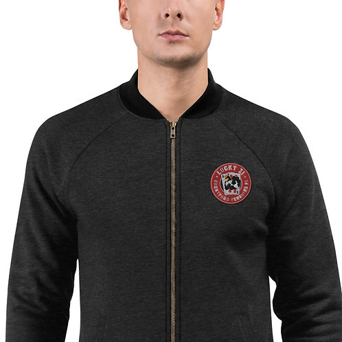 Penguin's Lucky 21 Embroidered (Red Logo) - Bomber Jacket