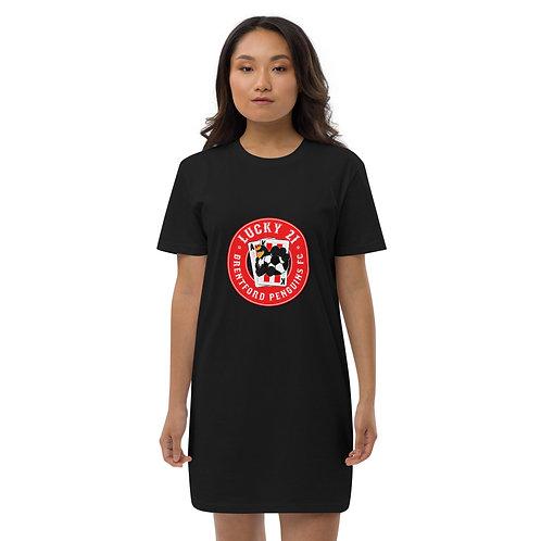 Penguins Lucky 21 (Red Logo) Organic cotton t-shirt dress