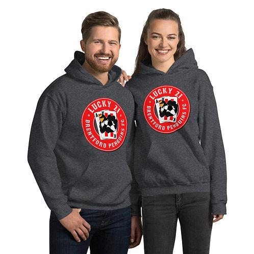 Penguin's Lucky 21 (Red Logo) - Unisex Hoodie