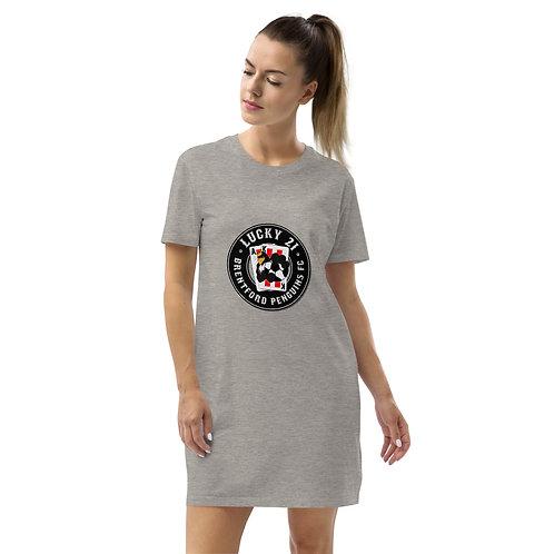 Penguins Lucky 21 (Black Logo) Organic cotton t-shirt dress