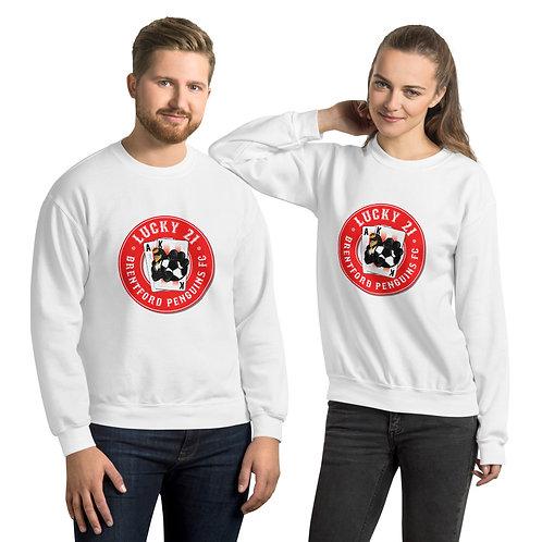 Penguin's Lucky 21 Unisex Sweatshirt (Red)