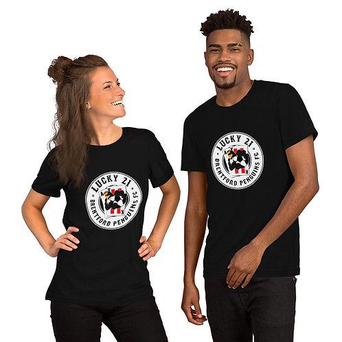 Penguin's Lucky 21 (White Logo) - Short-Sleeve Unisex T-Shirt