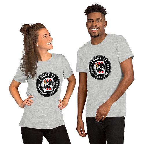 Penguin's Lucky 21 (Black Logo) Short-Sleeve Unisex T-Shirt