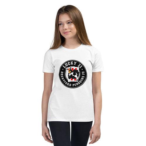Penguin's Lucky 21 (Black Logo) - Youth Short Sleeve T-Shirt