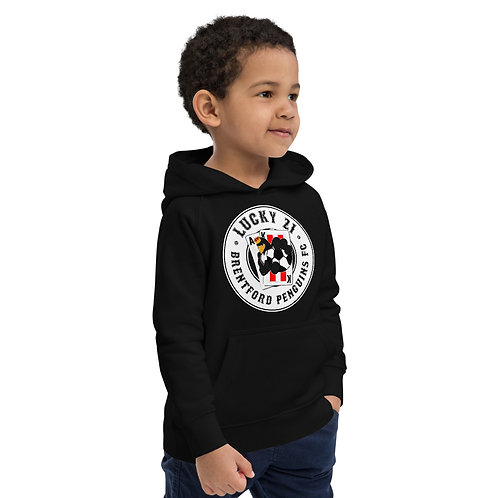 Penguins Lucky 21 (White Logo) Kids Eco Hoodie