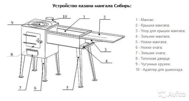 """Казан мангал """"Сибирь"""""""