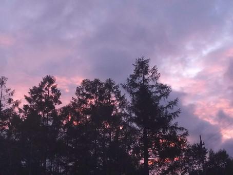 横谷観音展望デッキ 美しい夕日です