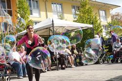Riesenseifenblasen verzaubern