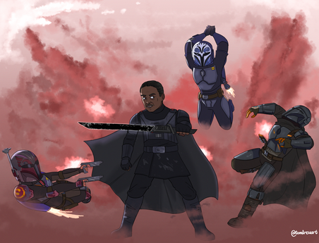 MoffGideon VS The Three Mandalorians