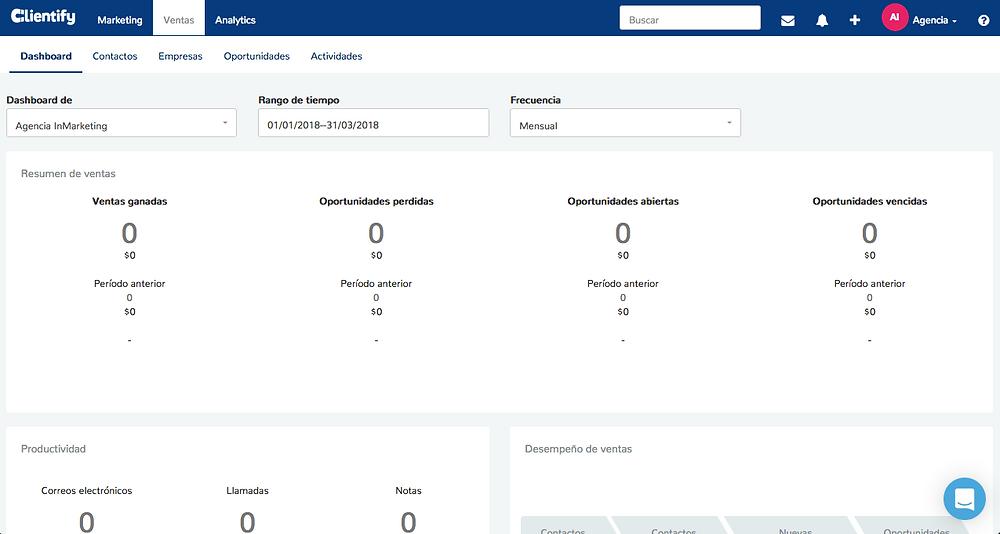 Clientify - Módulo Ventas