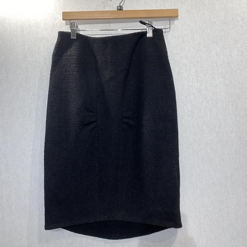 Chanel black wool boucle skirt