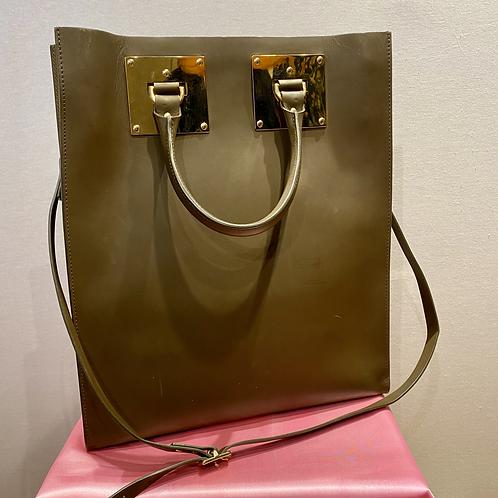 Sophie Hulme 'Albion' Brown Leather Handbag