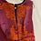 Thumbnail: Diane von Furstenberg Pink & Orange Pinafore Style Dress Size 10