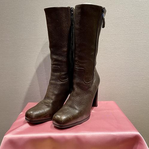 Prada Leather Brown Boots EU39