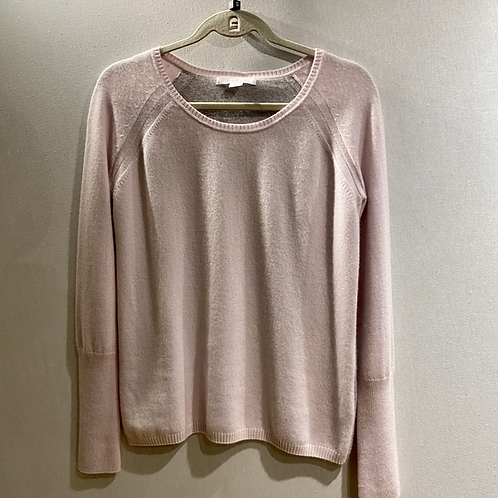 Duffy Cashmere Jumper with Grey Reverse Size Small