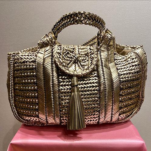 Anya Hindmarch Gold 'Neeson' Handbag