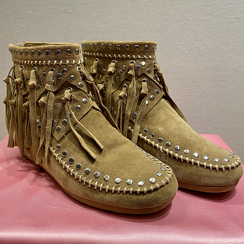 ASH 'Spirit' Suede Tasseled Boots UK5