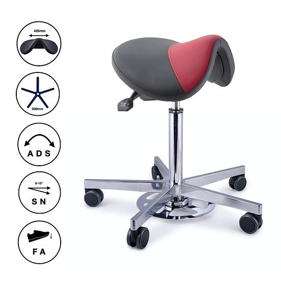 Sattelsitz Balance mit ADS, SN sowie Hand- & Fussauslöser