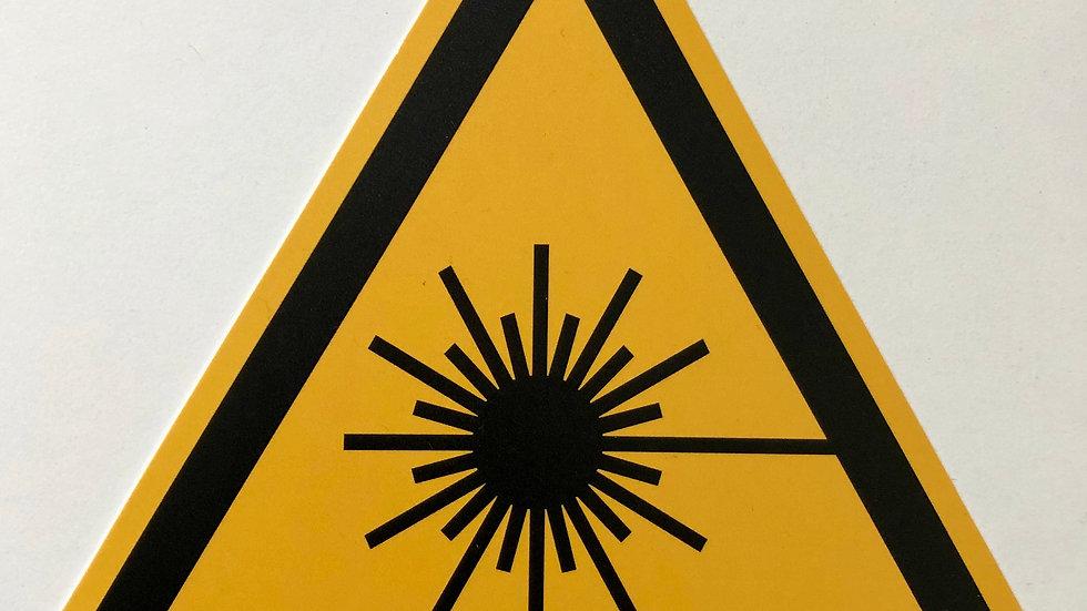 Laser-Warnschild Kunststoff