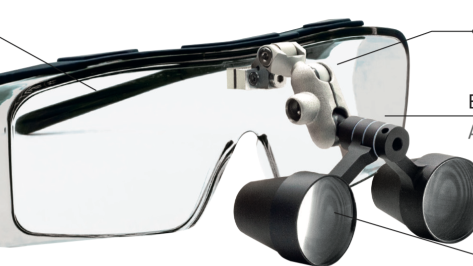 Lupenbrille, 3-fache Vergrösserung, klappbar