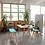 Thumbnail: Holzbank mit Sitzkissen, Eiche, Zweisitzer