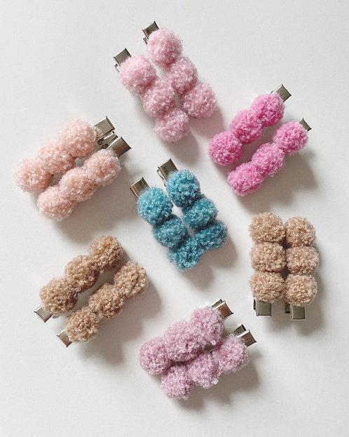 Mini Pom Pom Clip Sets