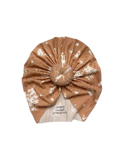 Toffee Floral Ribbed Knot