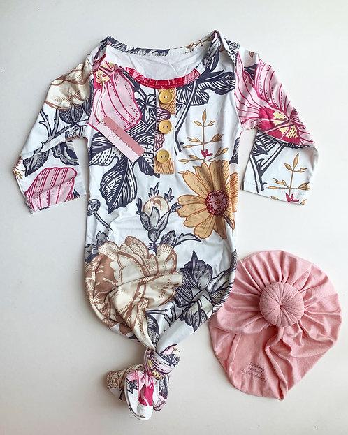 Vikki Floral Baby Sleeper