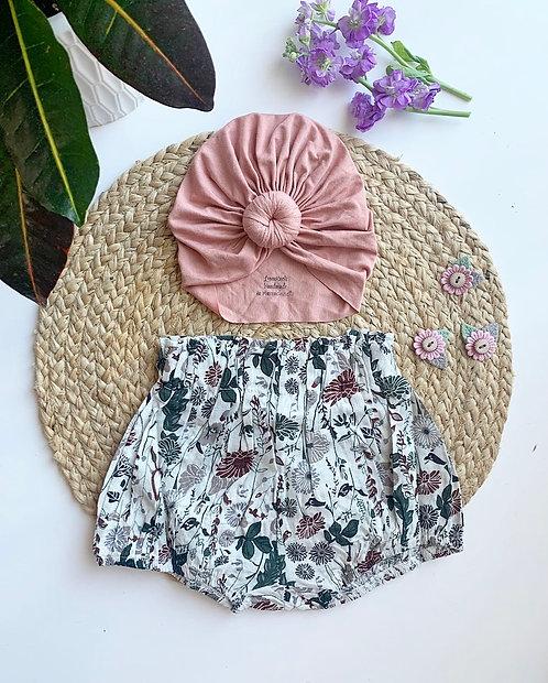 Vintage Floral Baby Bloomer