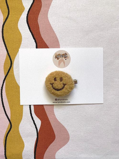 Smiley Face Plush Clips