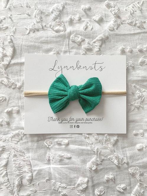 Shamrock Green Ribbed Headband